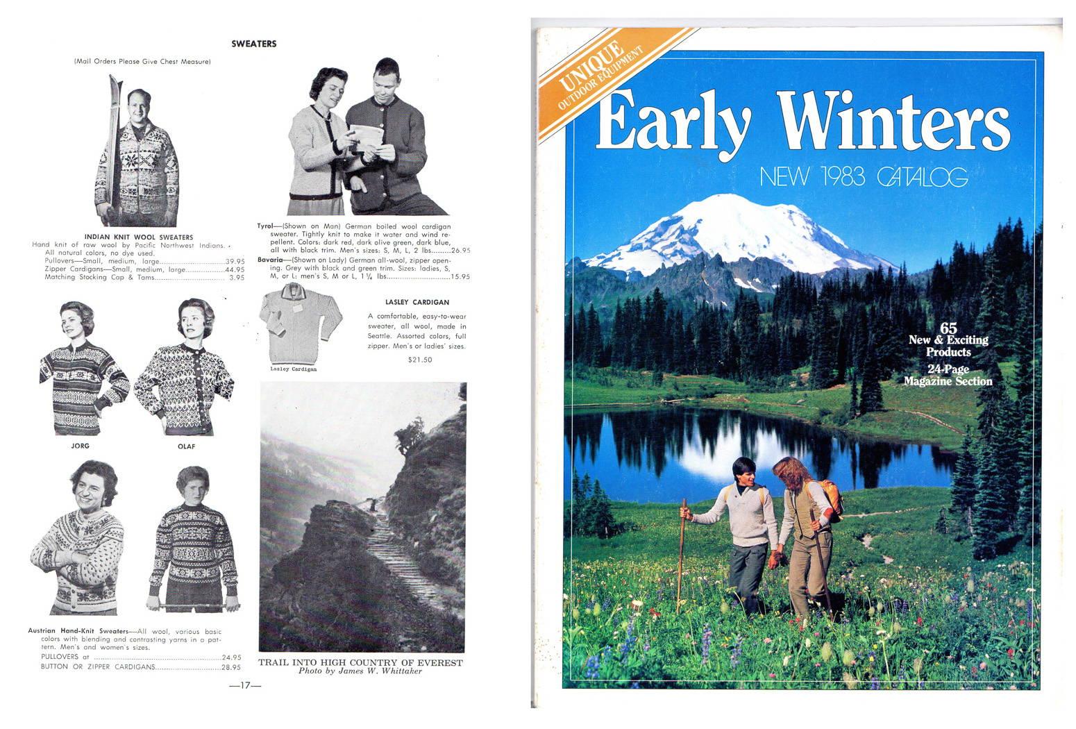 REI Catalog 1964, p.17; Early Winters Catalog 1983