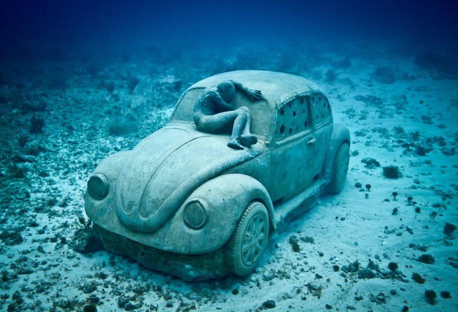 "Jason deCaires Taylor's underwater sculpture ""Anthropocene."" Photograph by Jason deCaires Taylor."