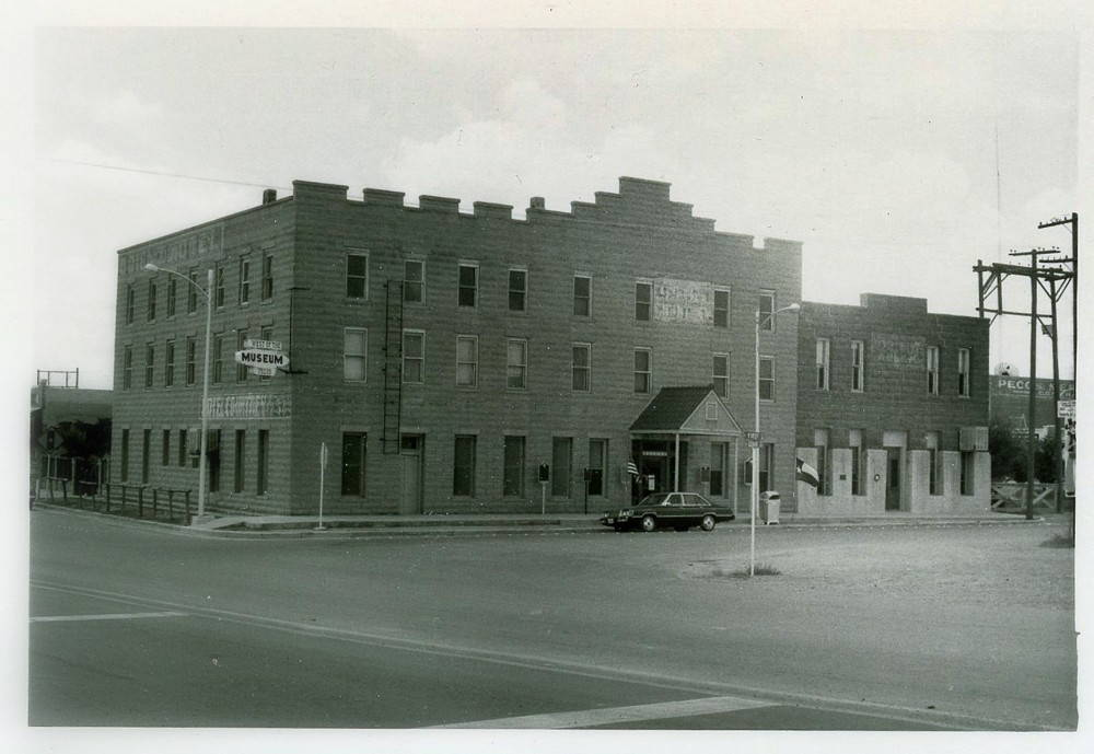 Fig. 3 West of the Pecos Museum in 1984, Pecos, Texas. Photo courtesy of Reeves County (TX) survey cards, Texas Historical Commission.