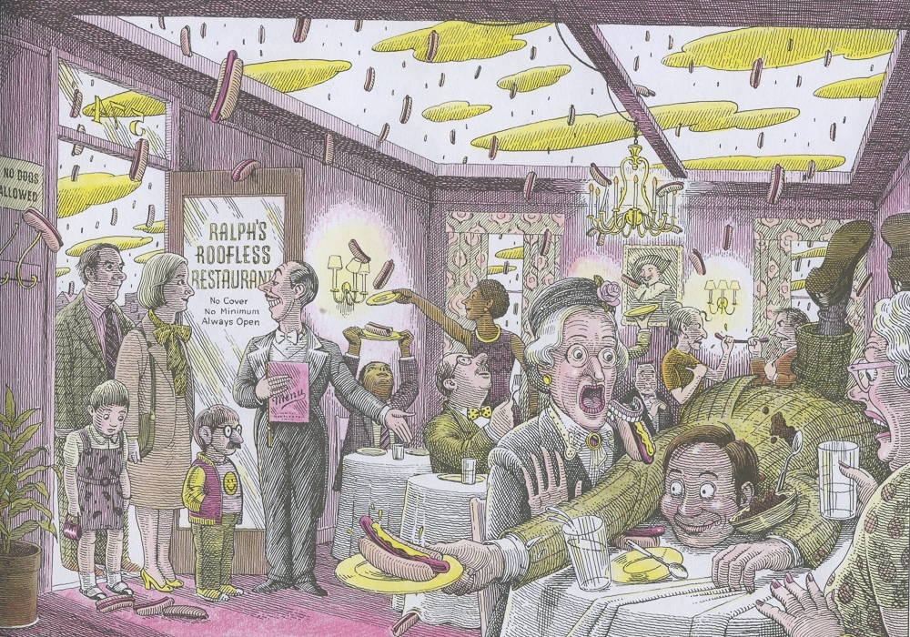 Image from Cloudy with a Chance of Meatballs, illustrated by Ron Barrett.