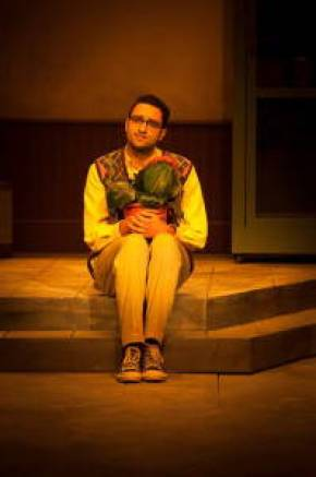 Mohamed Ahmed as Seymour Krelborn. Photo by Andrea Heilman, AUC Theater Department, May 6, 2015.