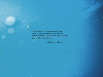 Liner notes for <em>Become Ocean</em>. Image by Paul Chesley/Richard Friedman for Cantaloupe Records.