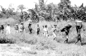On the move in Sinoe County, Liberia. Loring Whitman, October 18, 1926. Indiana University Liberian Collections