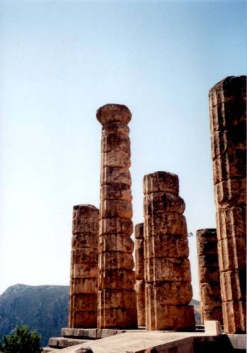 Temple of Apollo at Delphi, Greece. Photo by the author.