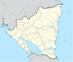 A proposed shipping canal through Nicaragua. Image courtesy of Wikimedia commons.