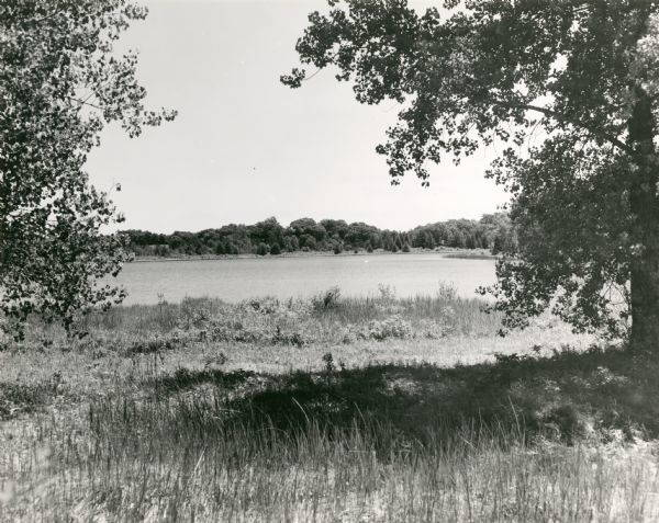 John Muir and his family lived on the shores of Fountain Lake, near modern day Montello, Wisconsin, from 1849-1857. Today the lake and surrounding area are part of the John Muir Memorial Park. Wisconsin Historical Society Image 40626.