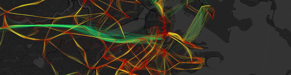 """""""MBTA Bus Speeds"""" by Andy Woodruff, from The Atlas of Design Volume 2 (used with permission)"""