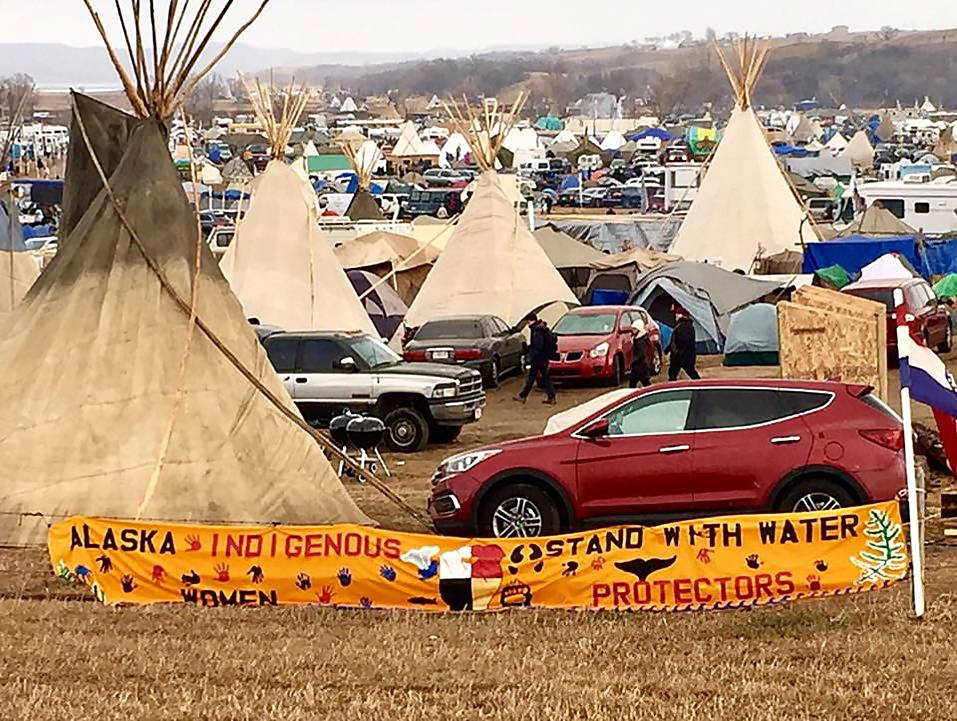 The camp at Standing Rock. Photo by Larry Nesper, November 2016.