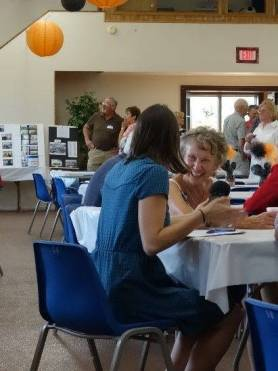 Residents enjoyed reminiscing about the Iron County of their youth at the All-Class Reunion in Hurley, Wisconsin. Photo by Joshua Lequieu, July 2016.