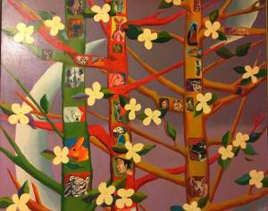 Painting by Theron Caldwell Ris captures the multispecies lifeways Heise envisions.