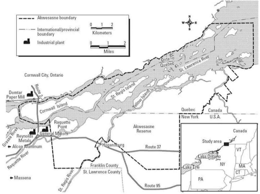 Map of Akwesasne Territory