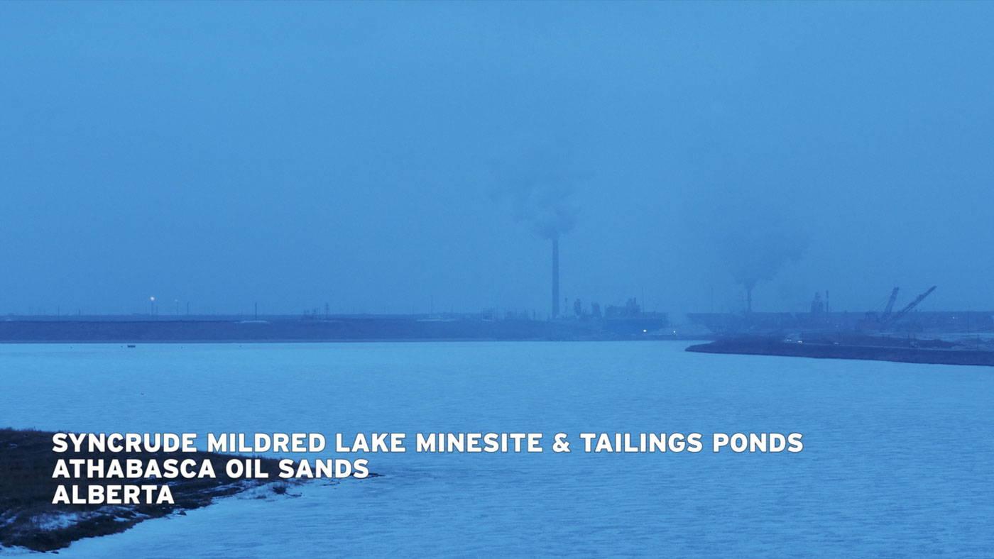 film still from midstream at twilight