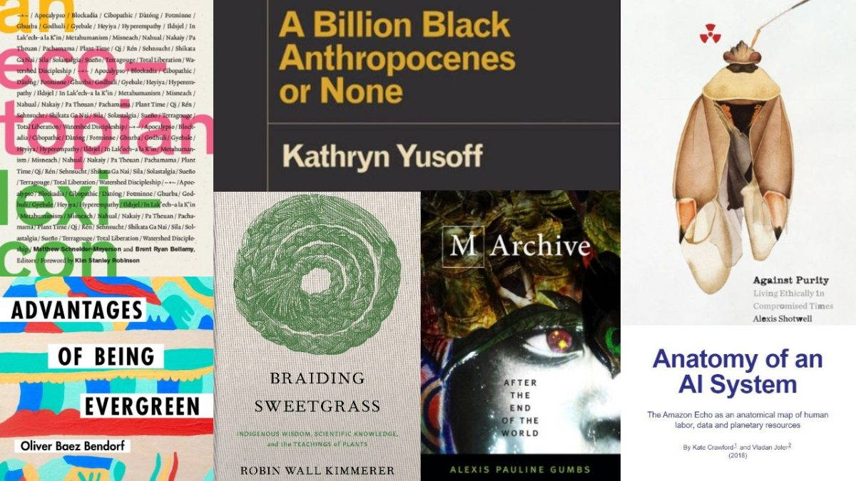 Collage of book covers for Faculty Favorites. Decoration only.