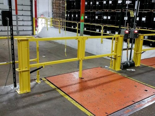 Dock guarding photo trend ideas industrial loading dock safety gate quality safety rails publicscrutiny Gallery