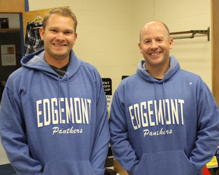 Royal blue Edgemont hoody on the Brians