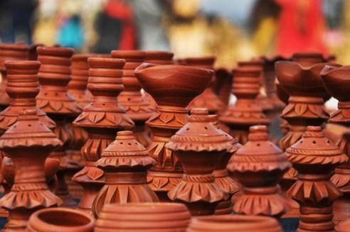 TERRACOTTA MATERIALS - West Bengal State Handicraft Expo 2011, Milan Mela Prangan, Science City, Kolkata, West Bengal, India