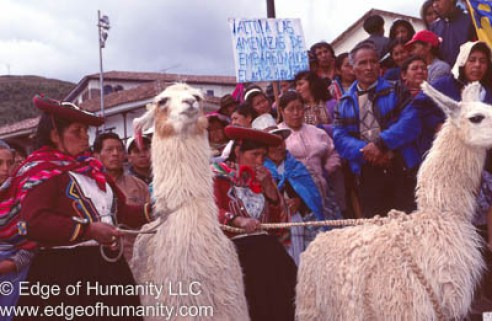 Protest - Cusco, Peru