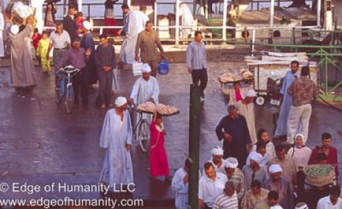 People boarding Egyptian Ferry.