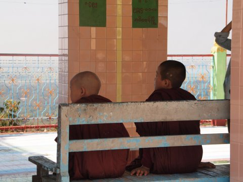 Buddhist Monks, Soon U Ponya Shin Paya, Sagaing, Myanmar