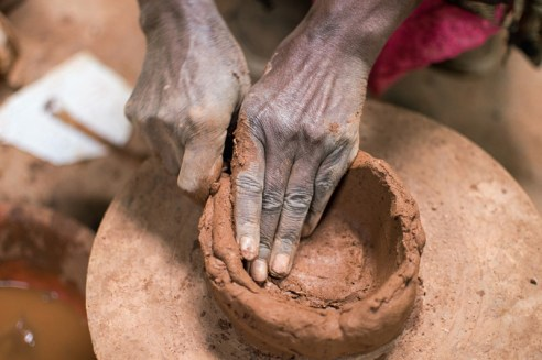 Steady hands, Dorze Pottery, Guge Mountains, Ethiopia