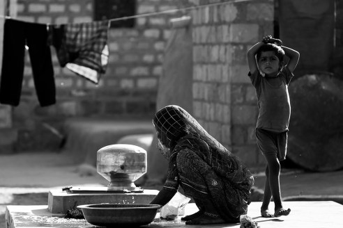 Daily Life @ village in Jaisalmer