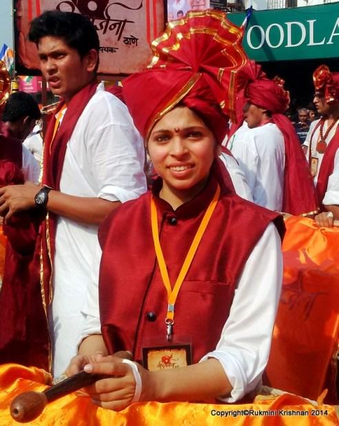 Drum player - Gudi Padva Carnival, India.
