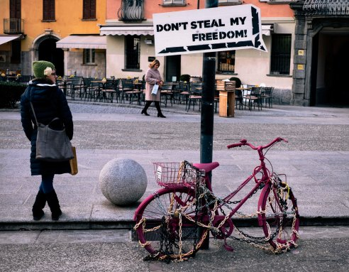 Don't Steal My Freedom - Como, Italy.