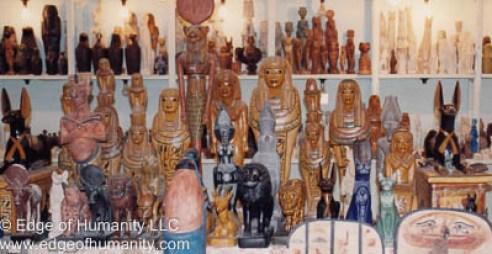 Deities of ancient Egypt statues  - Egypt