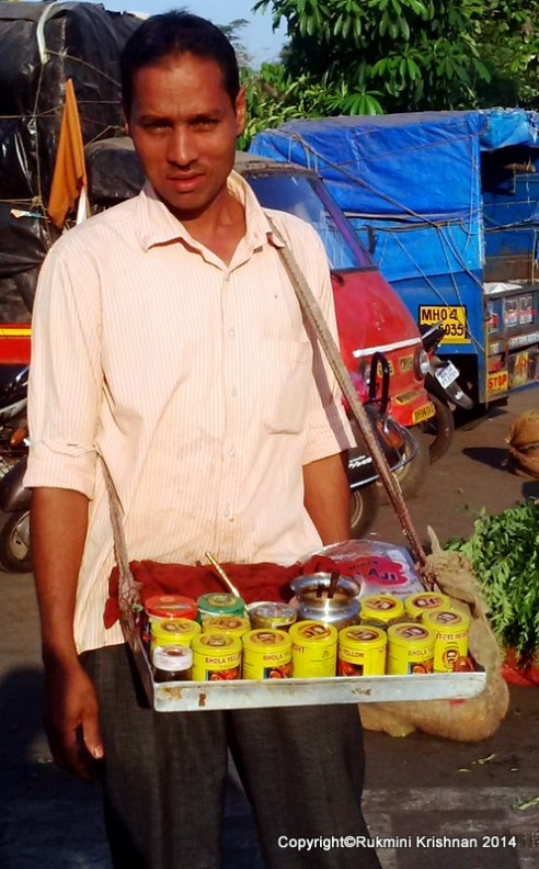 Betel nut vendor or the Pan waalah - Jambli Naka, Thane, Mumbai, India.