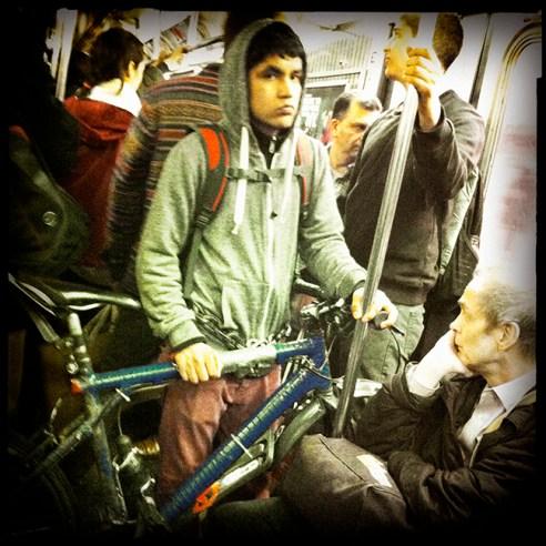 Bicycle New York City Subway