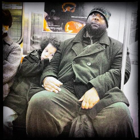 Father & Son New York City Subway