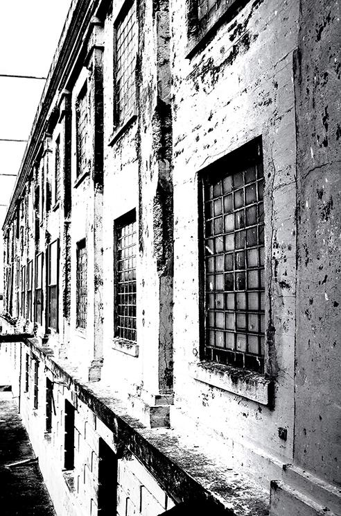 """""""The wall"""" Alcatraz, California, USA"""