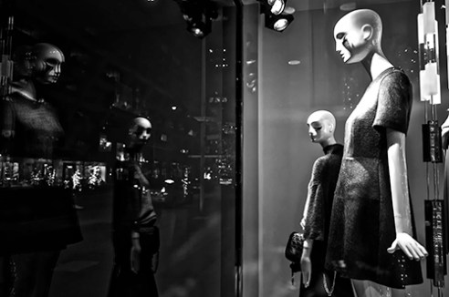 """Inside Looking Out"" Bloor Street, Toronto, Ontario,Canada"