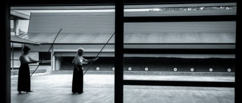 Matsuyama-Kyudo training Japan