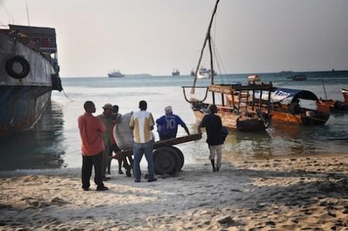 Fishermen and horizon, Stone Town, Zanzibar