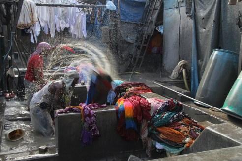 At work in Dhobi Ghat