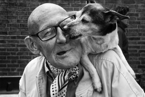 Man and his dog London, England