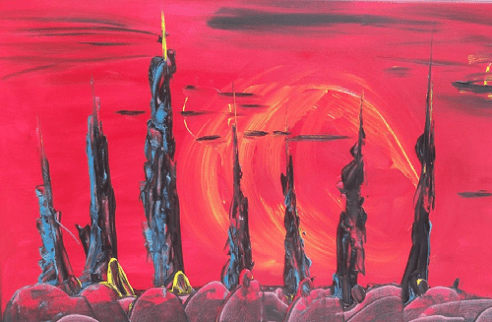 Skyline Acrylic on canvas