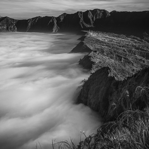 Misty wave - Bromo Mountain, East Java - Indonesia