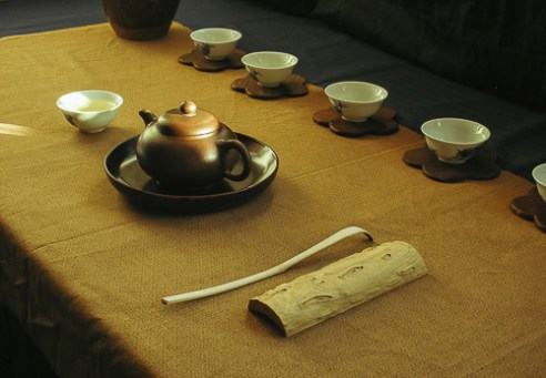 Chinese tea, table setting