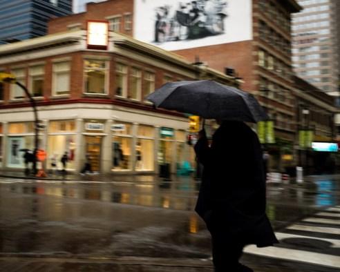 Raining. Calgary, Canada