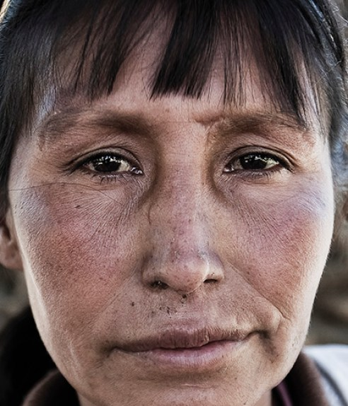 Portrait of Maria, destitute of the Plaza San Sebastian in Cochabamba, Bolivia.