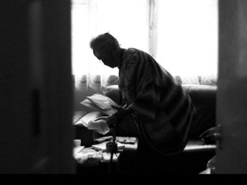 Resting . A quiet moment for the carer.Rainham , UK