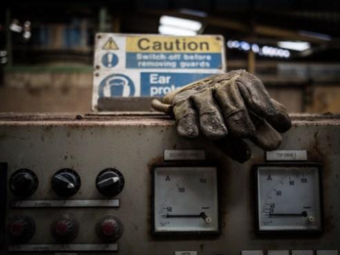 Safety gloves Abandoned Brickworks in Surrey, UK