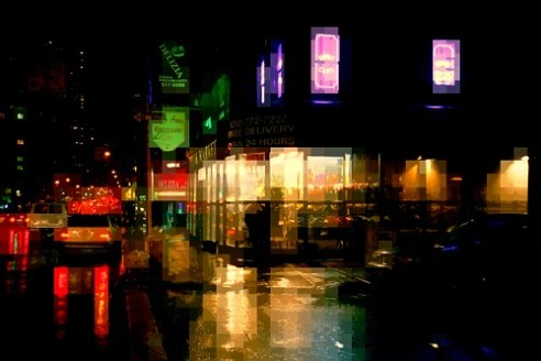 Jewel box in the rain. Upper East Side, New York.