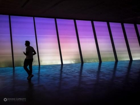 Inside the MAXXI Contemporary Art Museum, Rome