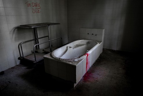 Ex Volterra Madhouse The cold bath tube (filled with ice) where the patients were immersed to be quiet. Italy