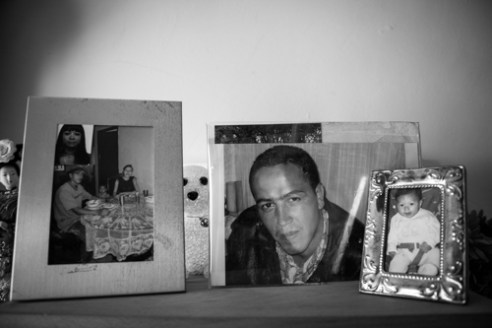 Photo of her son, killed in 2009, Medellín.
