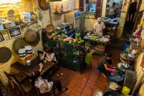 Kitchen, Mau Dich Communist Restaurant Hanoi, Vietnam