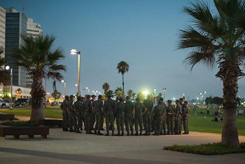 Military action in the center of Tel Aviv.